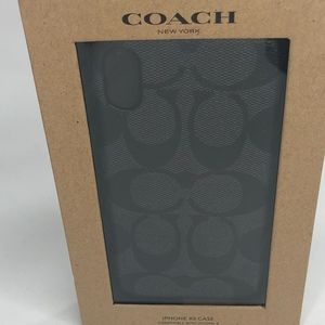 Coach Signature Coated Canvas Case iPhone X /Xs